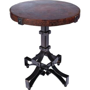 Meghan Iron Rivet Strap End Table