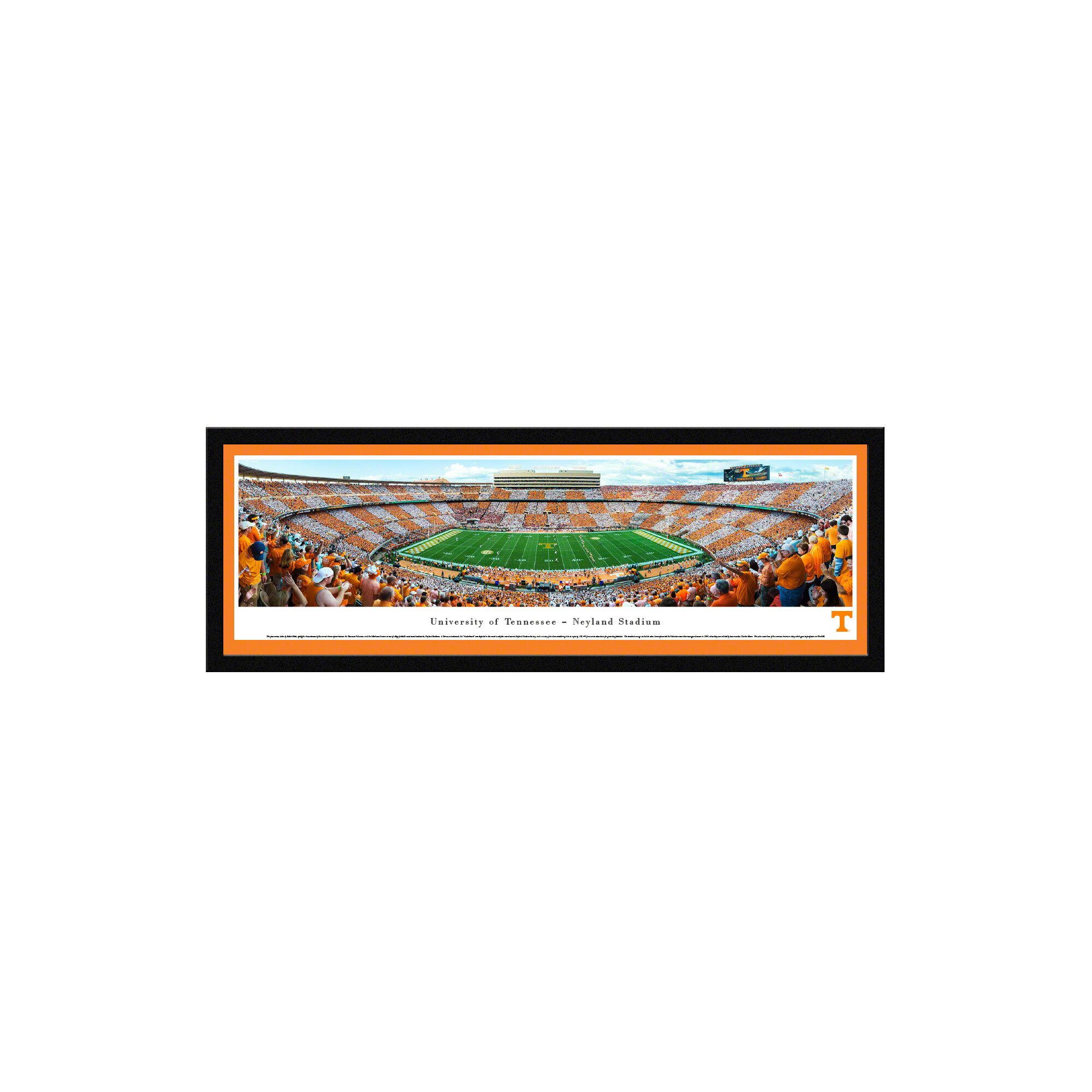 Blakewaypanoramas Ncaa Tennessee University Of Football 50 Yard Line By Robert Pettit Picture Frame Photographic Print On Paper Wayfair