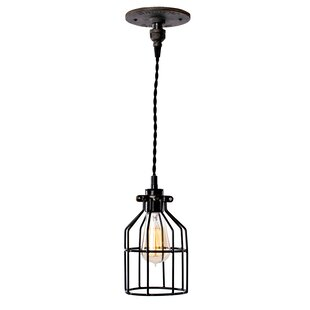 Bach 1-Light Cylinder Pendant by Williston Forge