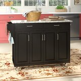 Campuzano Kitchen Island with Granite Top by Charlton Home®