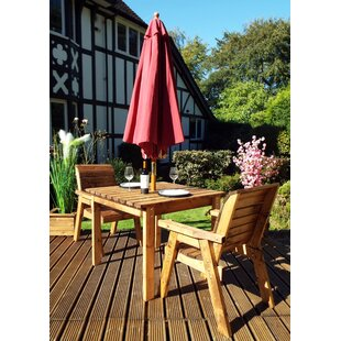 France 2 Seater Bistro Set With Cushions By Union Rustic
