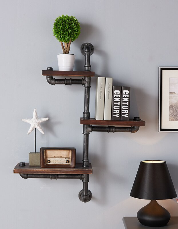Trent Austin Design 3 Shelves Wood Floating Wall Shelf Reviews