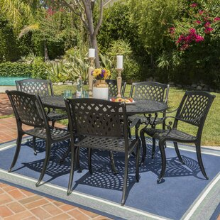 Fleur De Lis Living Brownlow Outdoor 7 Piece Dining Set