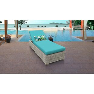 Coast Reclining Chaise Lounge with Cushions and Table