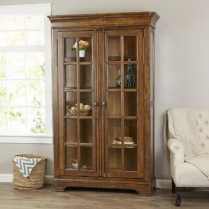 Gilcrest Lighted Curio Cabinet by Loon Peak