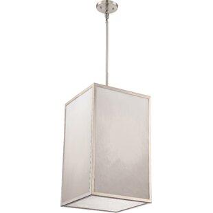 Almeta 1-Light LED Square/Rectangle Pendant by Ivy Bronx
