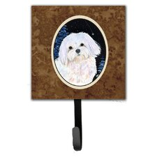 Starry Night Maltese Leash Holder and Wall Hook by Caroline's Treasures