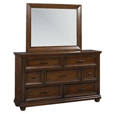 Vineyard 7 Drawer Dresser with Mirror by Standard Furniture