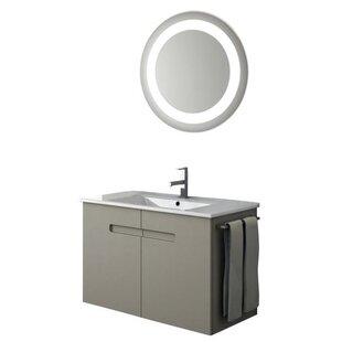 New York 35 Single Bathroom Vanity Set with Mirror by ACF Bathroom Vanities