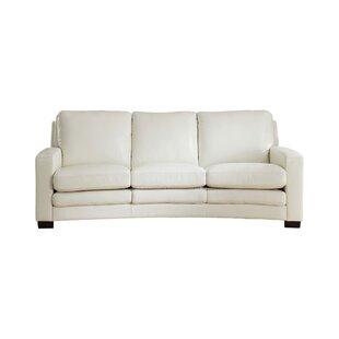 Orren Ellis Hadnot Craft Leather Sofa