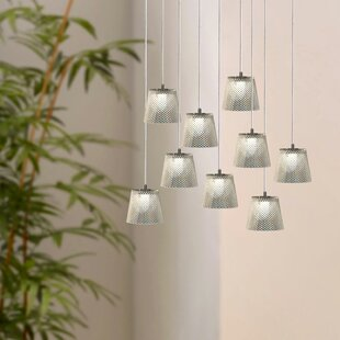 Emerie 9-Light LED Cluster Pendant by Orren Ellis