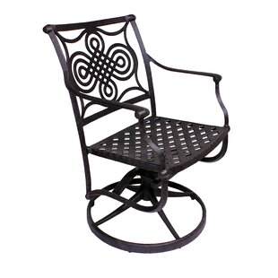 Bermuda Rocker Swivel Patio Dining Chair (Set of 2)