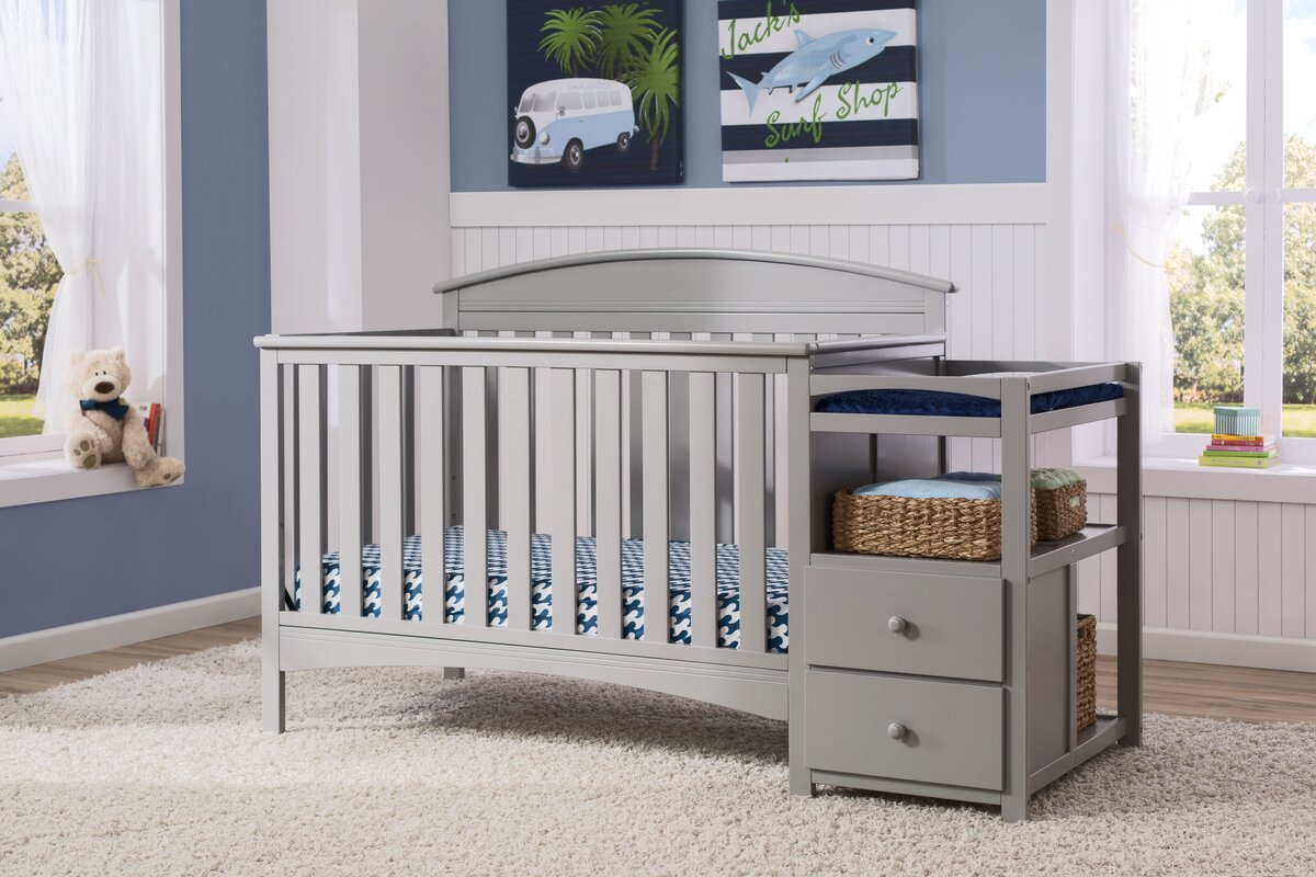 Delta Children Abby 4in1 Convertible Crib and Changer by Delta