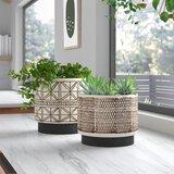 Pamella 2-Piece Stoneware Pot Planter Set
