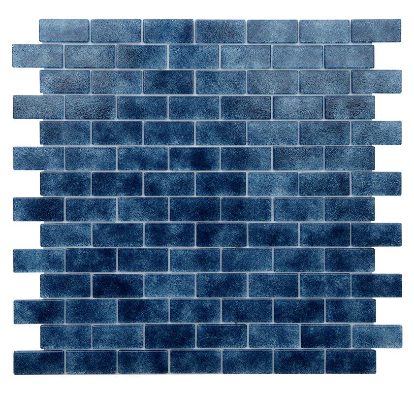 Quartz 0 75 X 1 63 Gl Mosaic Tile In Dark Blue