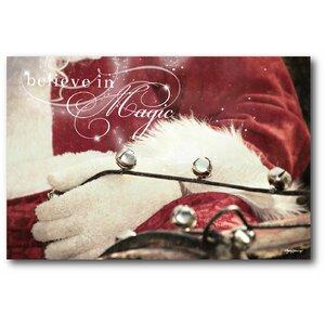 'Santa Winter Wonderland' Photographic Print on Wrapped Canvas