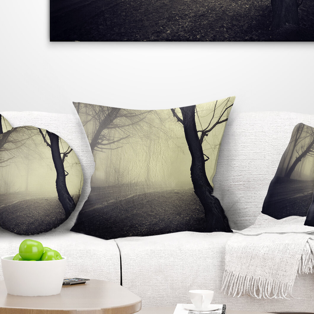East Urban Home Old Looking Fall Forest Shoot Landscape Photography Lumbar Pillow Wayfair