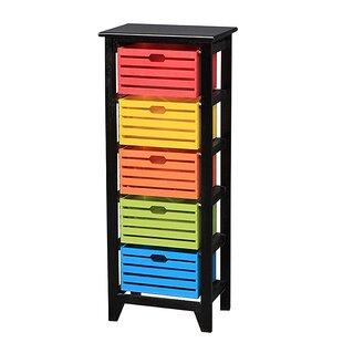 Ebenezer Wooden Cabinet 5 Drawer Storage Chest ByLatitude Run