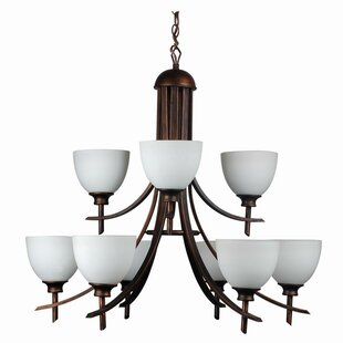 Whitfield Lighting Kelsey 9-Light Shaded Chandelier