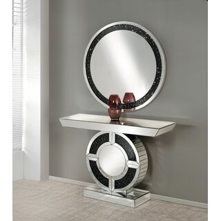"Inez 47"" Console Table and Mirror by Rosdorf Park SKU:CB411472 Reviews"