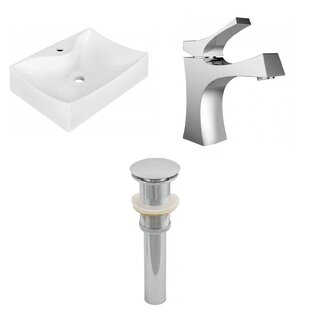 Price comparison Ceramic 21.5 Wall-Mount Bathroom Sink with Faucet By Royal Purple Bath Kitchen