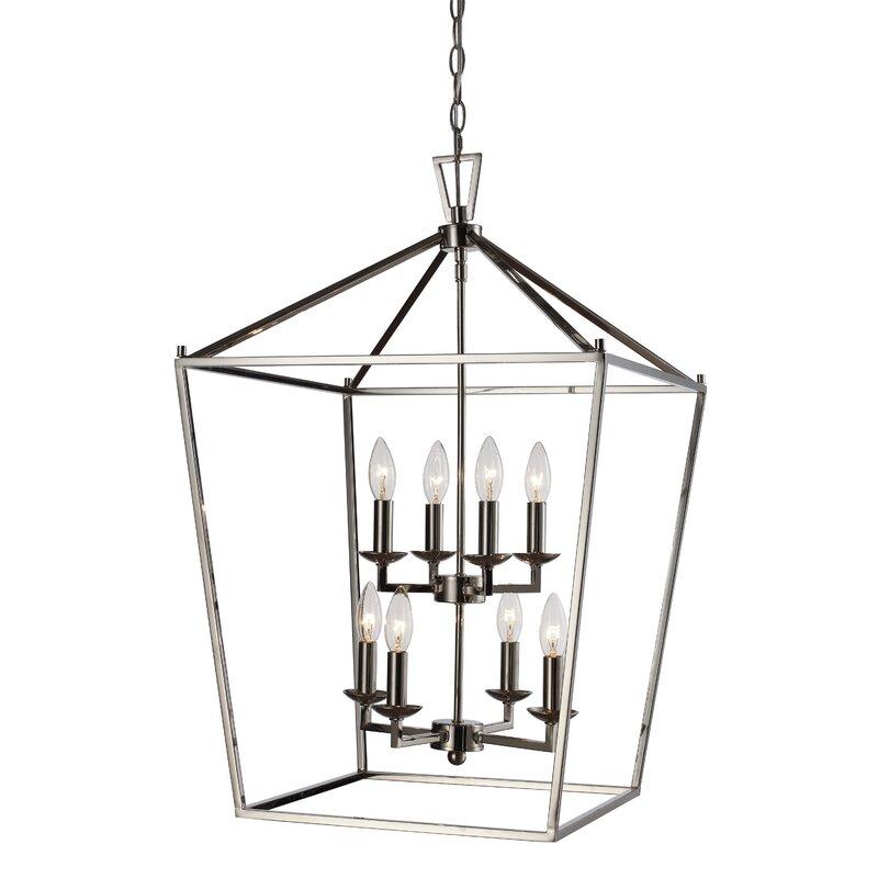 Carmen 8 - Light Lantern Geometric Chandelier