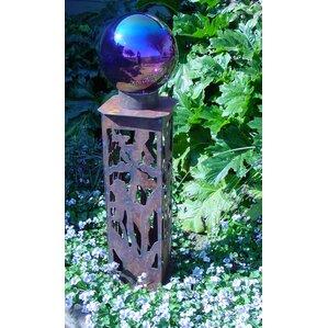 Iris Gazing Ball Pedestal