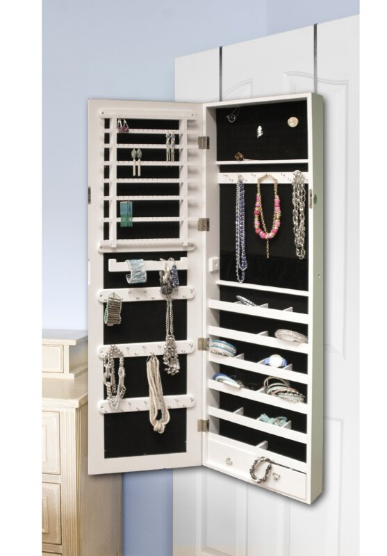 Marvelous Berger Over The Door Jewelry Armoire With Mirror