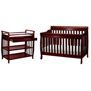 Comparison Brookdale 4-in-1 Convertible 2 Piece Crib Set By Harriet Bee