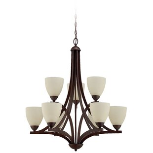 Winston Porter Alvah 9-Light Shaded Chandelier