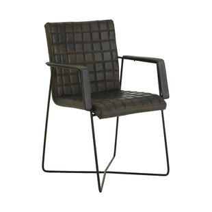 Addie Weave Leather Armchair By Williston Forge