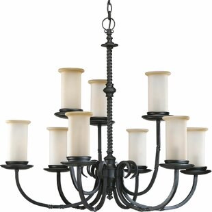 Astoria Grand Jakes 9-Light Shaded Chandelier