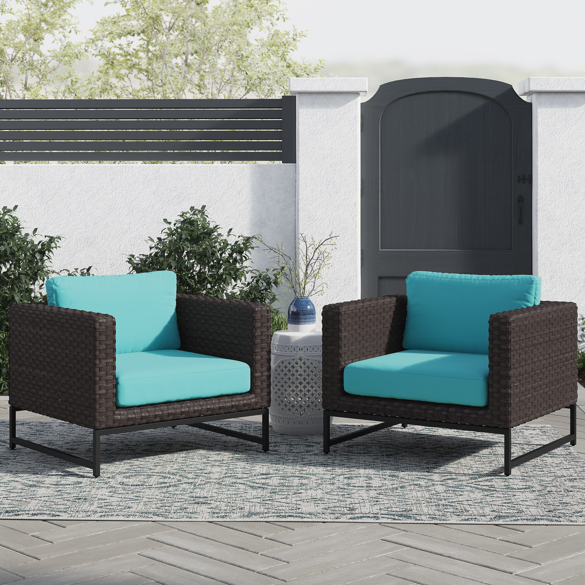 Nauvoo Barcelona Patio Chair With Cushions Reviews Joss Main