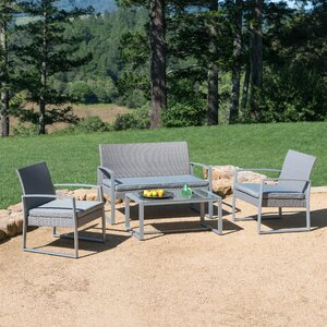 Clemmons 4 Piece Seating Group with Cushion