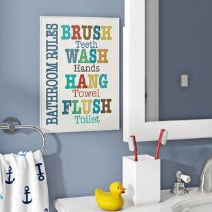 Kids Bathroom Wall Art Wayfair