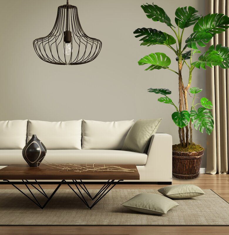 Monstera Artificial Home Décor Floor Foliage Tree In Planter