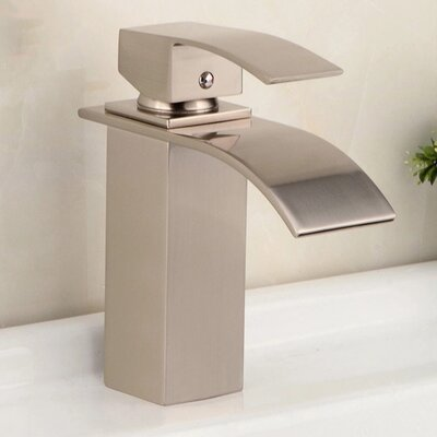 AllAboutModern Single Hole Faucet Bathroom  Finish: Brushed Nickel
