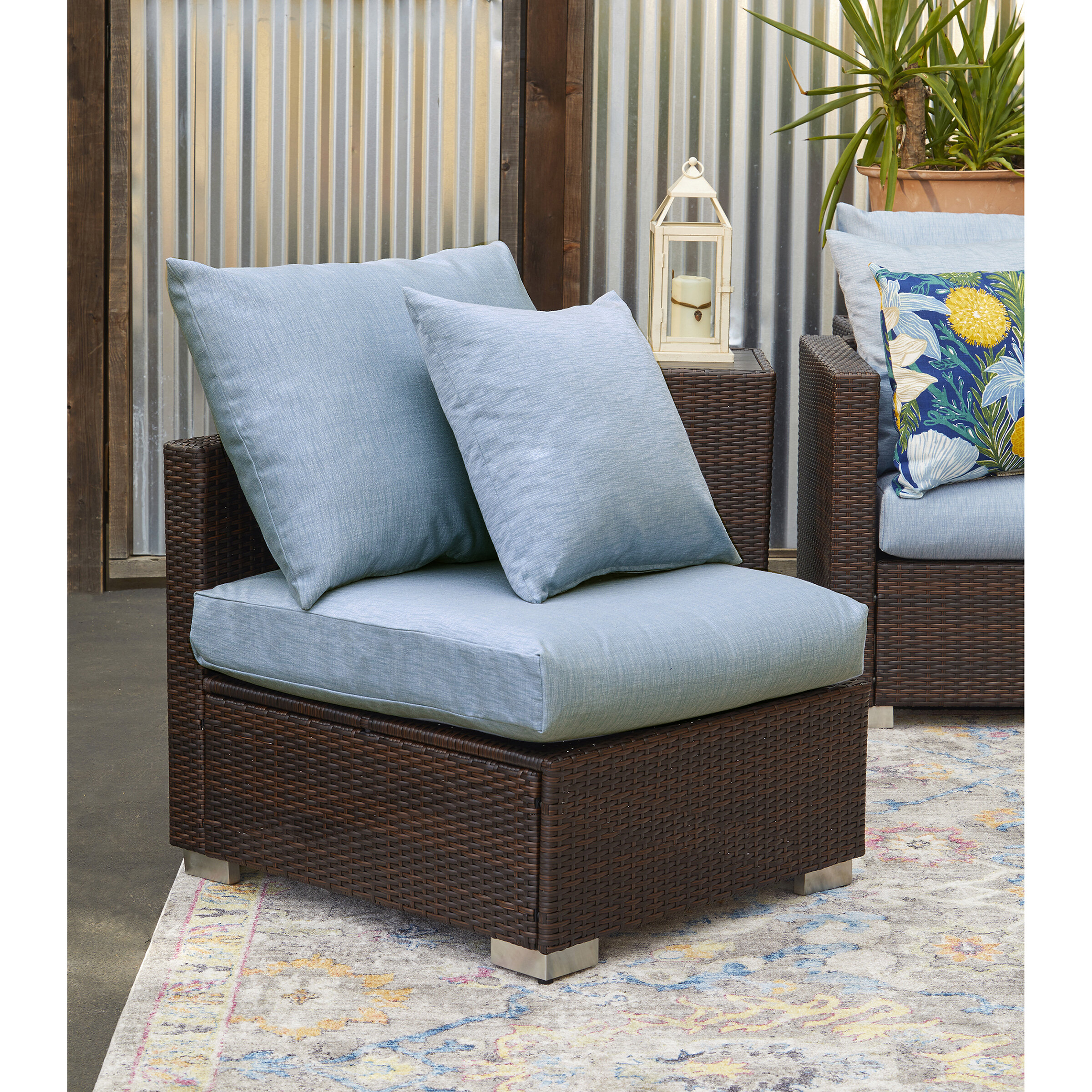 Ivy Bronx Mcmanis Outdoor Rattan Patio Chair with Sunbelievable ...