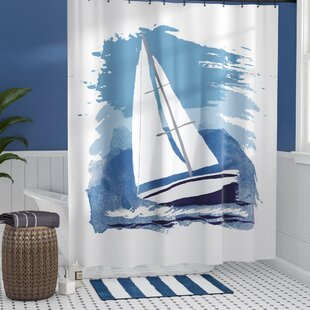 Golden Gate Sailing the Seas Single Shower Curtain