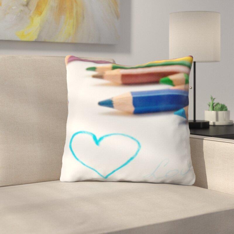 Latitude Run Wigginton Art And Craft Colored Pencil On A Paper Throw Pillow Wayfair