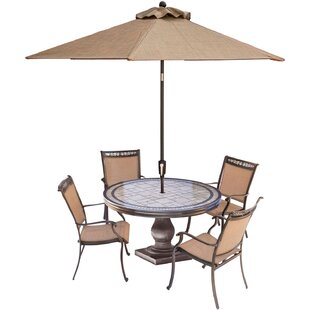 Bucher 5-Piece Outdoor Dining Set