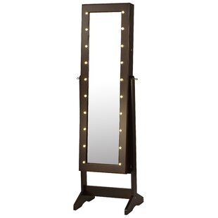 Deals Garica Free Standing Jewelry Armoire with Mirror By Winston Porter