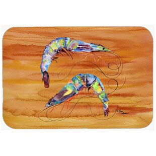 Shrimp Glass Cutting Board By Caroline's Treasures