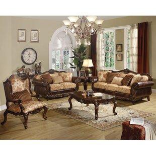 Astoria Grand Beardsley 3 Piece Living Room Set