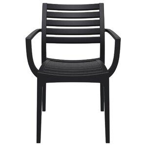 Nikoleta Stacking Patio Dining Chair (Set Of 4)