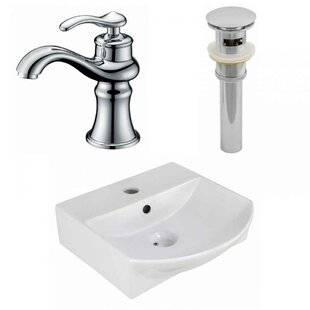 Inexpensive Ceramic U-Shaped Bathroom Sink with Faucet and Overflow ByAmerican Imaginations