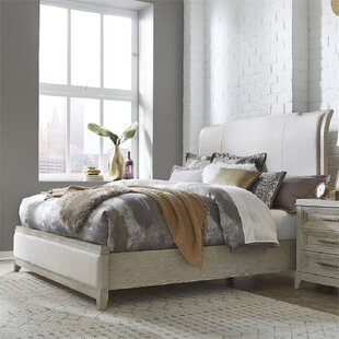 Roermond California King Solid Wood and Upholstered Low Profile Sleigh Bed by Gracie Oaks