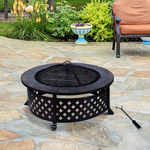 South Kingstown Steel Charcoal Fire Pit By Sol 72 Outdoor