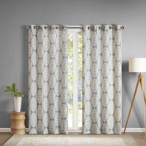 gottberg ikat semisheer grommet single curtain panel