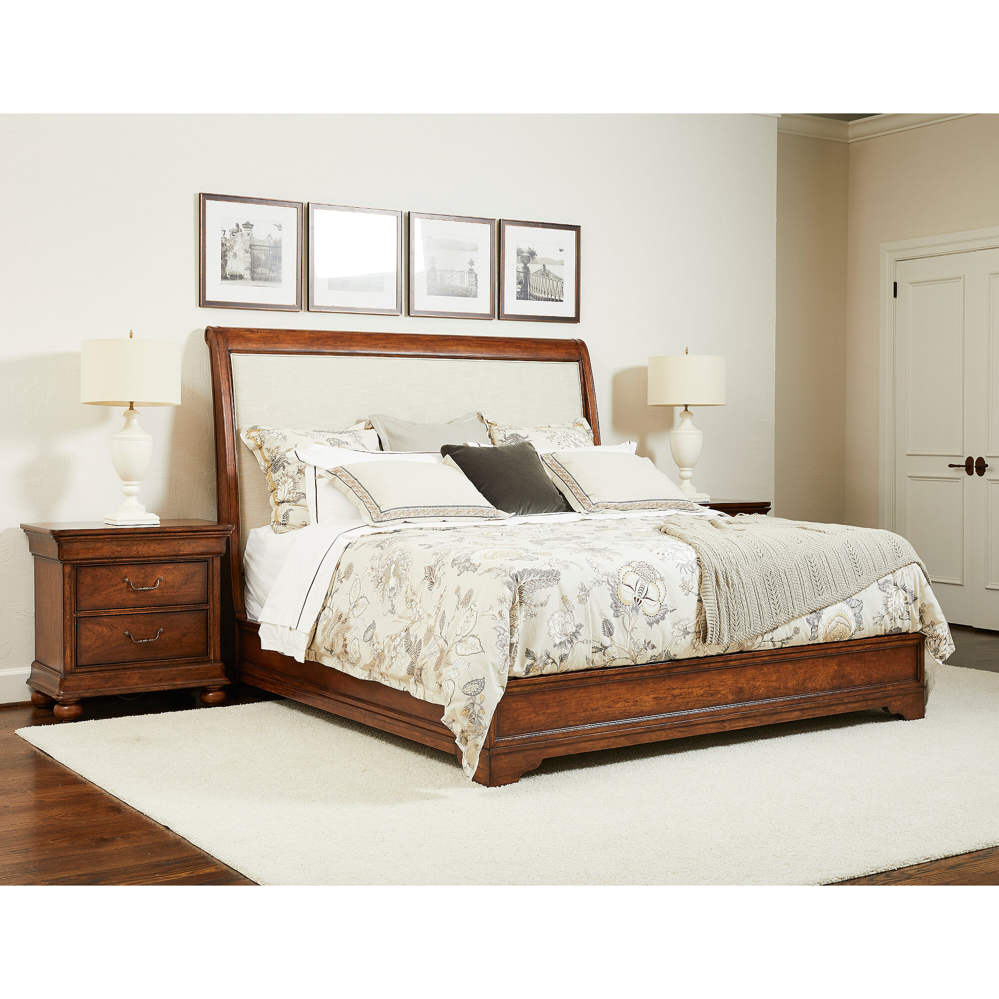 - Stanley Furniture Louis Philippe Sleigh Configurable Bedroom Set